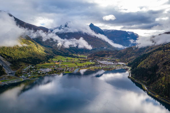 Fjord in Loen, Norway