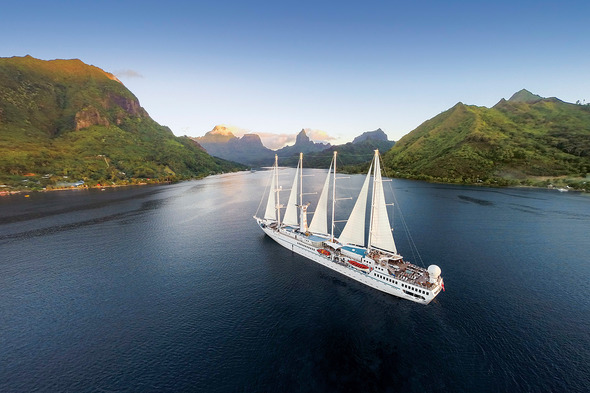 Windstar in Moorea - Read our article to find out why a cruise is the best holiday choice post-coronavirus