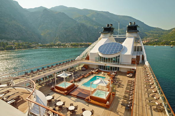 Pool deck on board Seabourn