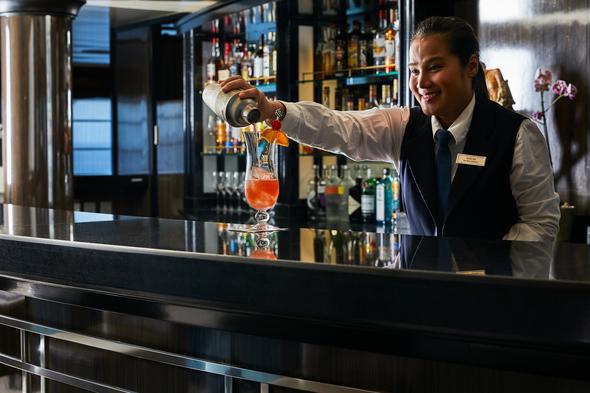Silver Whisper bartender