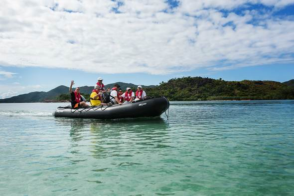 Crystal Esprit zodiac excursion in the Seychelles