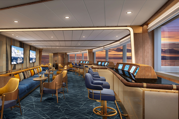 Seabourn Venture - Bow Lounge