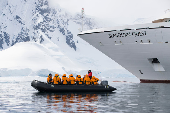 Seabourn Quest - Zodiac excursion in Antarctica