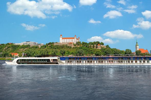 AmaWaterways cruising on the Danube river in Bratislava, Slovakia