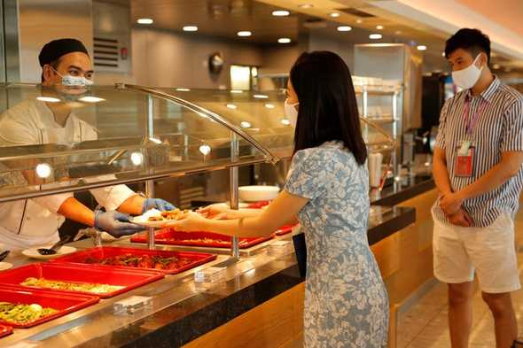 Restaurant on board World Dream