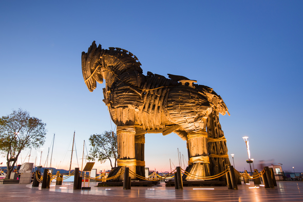 Trojan horse in Cannakale, Turkey
