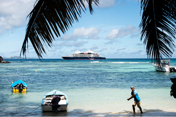 Ponant's Explorer class, one of the best small ship cruise options in the Seychelles