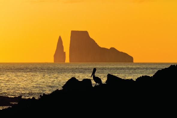 Sunset over Kicker Rock, Galapagos
