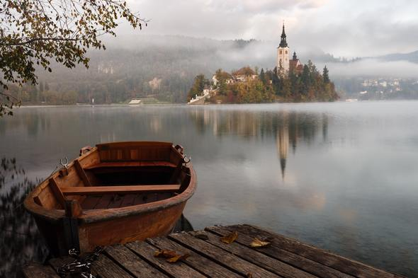 Mist on Lake Bled, Slovenia