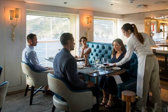 Dining on board Crystal Esprit
