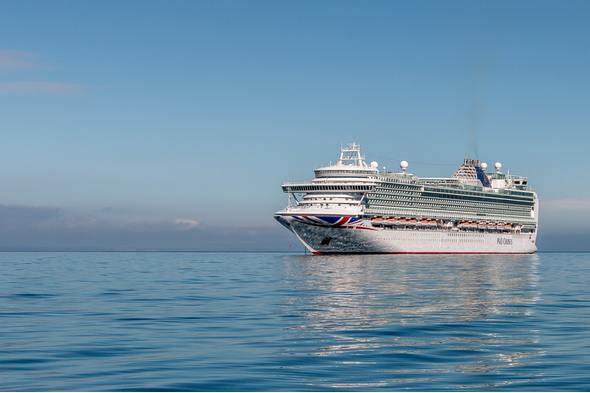 P&O cruise ship off the coast of UK