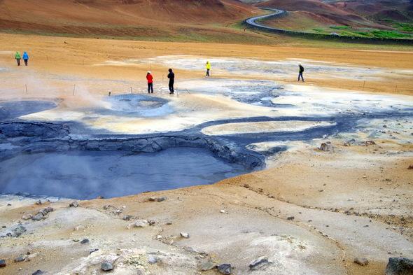 Landscape near Lake Myvatn, Iceland