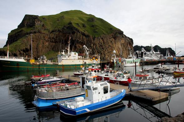 Heimaey harbour, Iceland
