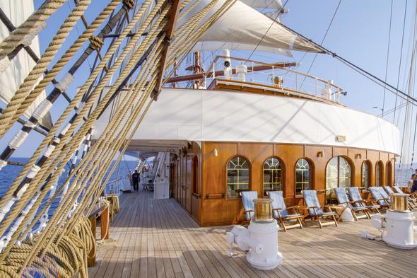 Sea Cloud II deck