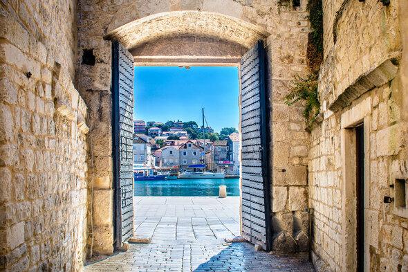 Trogir city gate, Croatia