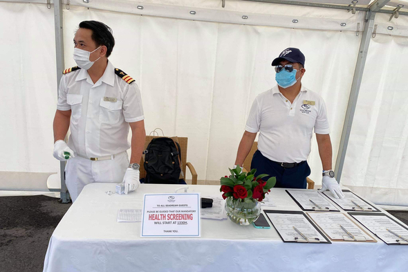Covid-19 testing and health screening on SeaDream Yacht Club