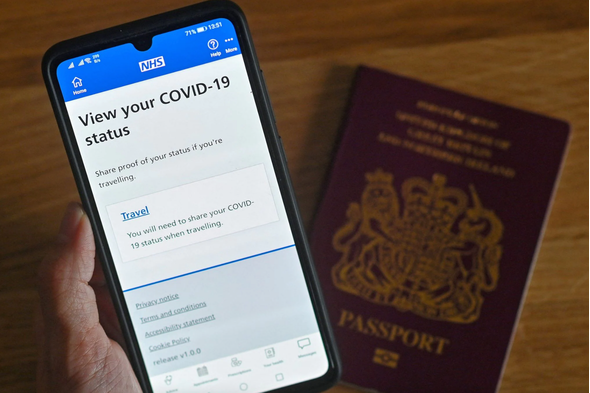 NHS app showing proof of Covid-19 vaccination status