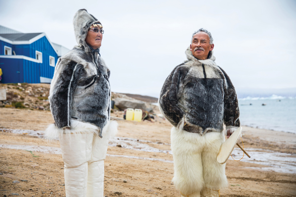 Visiting an Inuit community in Greenland on a Silversea Expeditions cruise