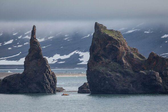 Quark Expeditions zodiac cruise in Franz Josef Land, Russian Arctic