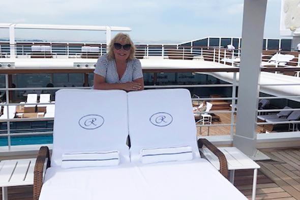 Sharon Trigg on board Regent Seven Seas Splendor