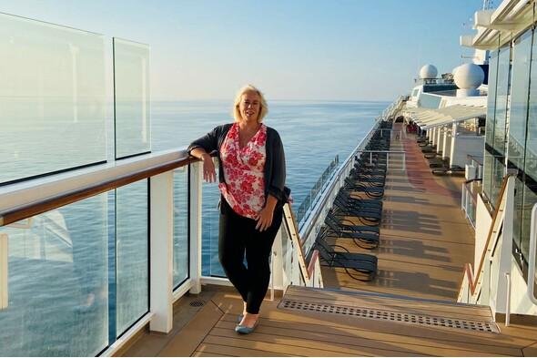Helen on board Celebrity Silhouette