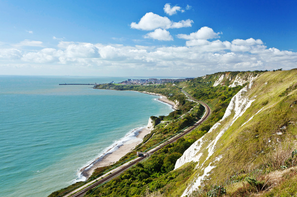 View from white cliffs of Dover