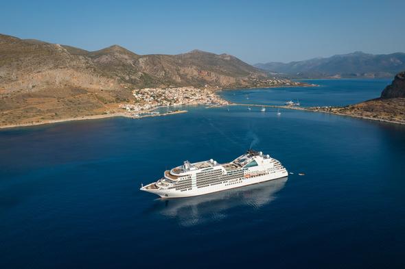 Seabourn Ovation in the Greek islands