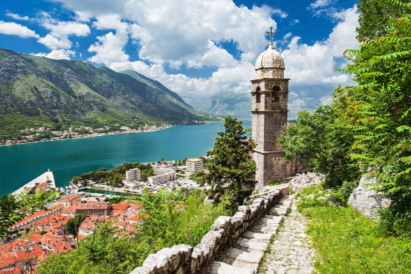 View over the old town of Kotor, Montenegro