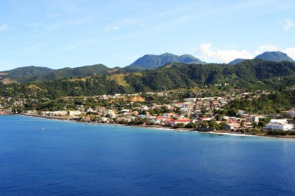 View of Roseau, Dominica from the sea