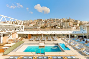Viking Ocean Cruises - Viking Star main pool with roof open