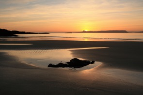 Sunset over the Isle of Eigg, Scotland