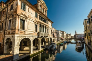 Canal in the old town of Chioggia, Italy