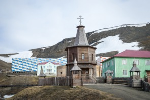 Russian Orthodox church in Barentsburg, Norway