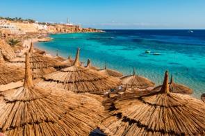 Beach in Sharm El-Sheikh, Egypt