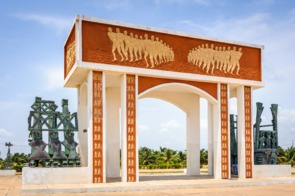 Rue des Esclaves monument, Ouidah, Benin