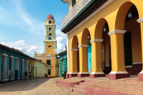 Colourful buildings in Trinidad, Cuba