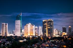 Jakarta, Indonesia by night