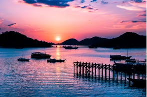 Sunset over Flores island, Indonesia