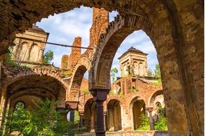 Ruined synagogue in Vidin, Bulgaria