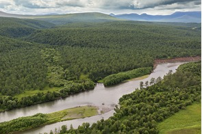 Zhupanova river in Kamchatka, Russian Far East