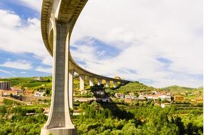 Bridge over the Douro at Peso da Régua, Portugal