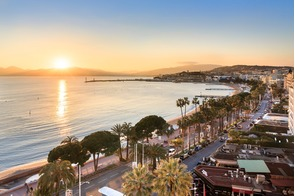 Sunset over Cannes, France