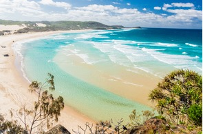 Beach on Fraser Island, Australia
