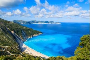 Myrtos Bay in Kefalonia, Greece
