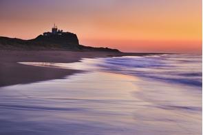 Nobby's Lighthouse in Newcastle, Australia