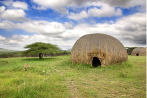 Traditional village in KwaZulu-Natal, near Richards Bay, South Africa
