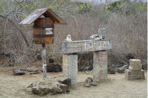 Post Office Bay on Floreana, Galapagos