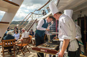 Hebridean Princess - Barbecue on the Skye Deck