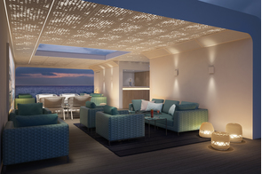 Crystal Endeavor - Outdoor deck at night