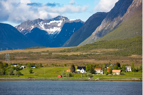 Landscape near Sortland, Norway